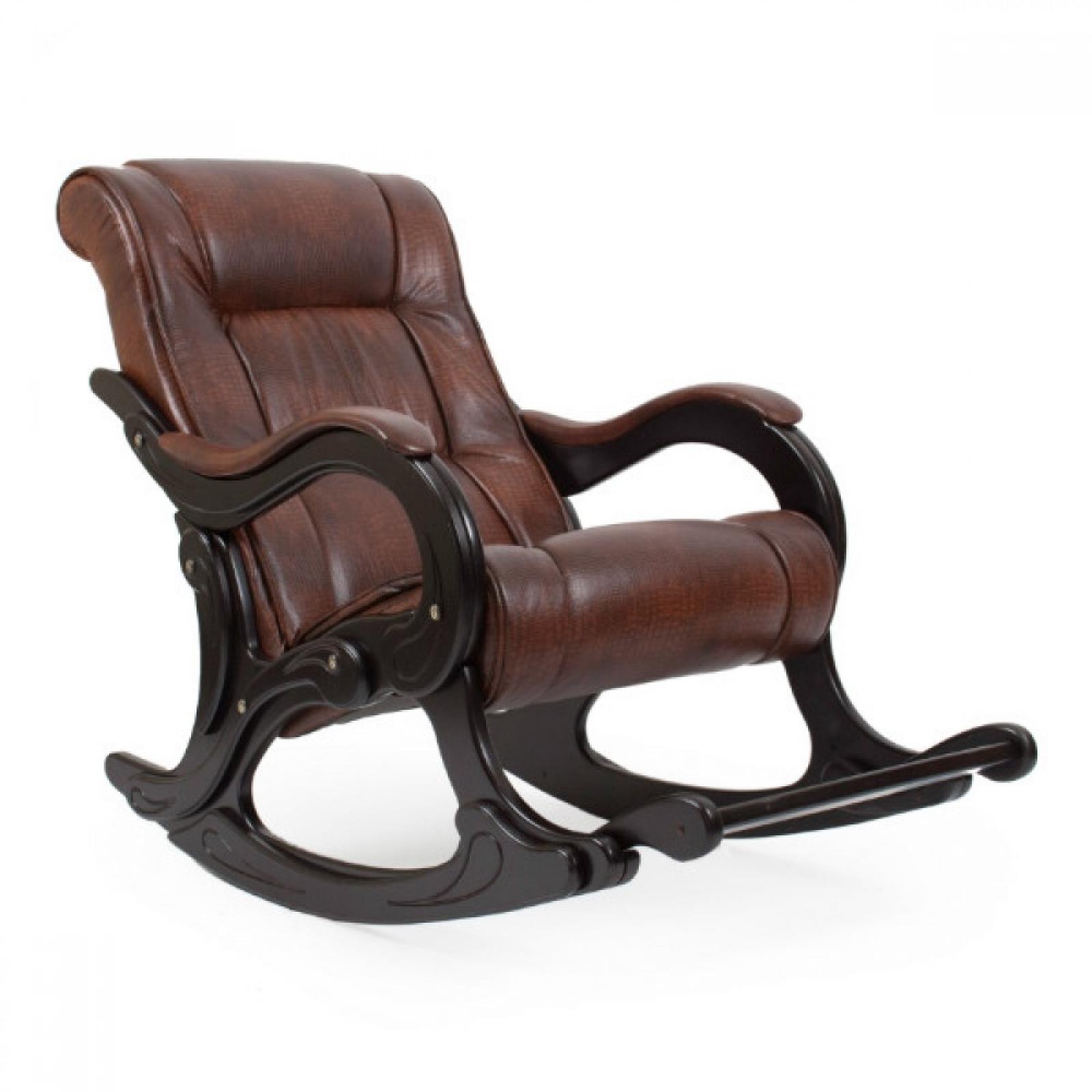 """Кресло для отдыха """"Лидер"""", Модель 77 Венге/Анти крокодил - 1"""