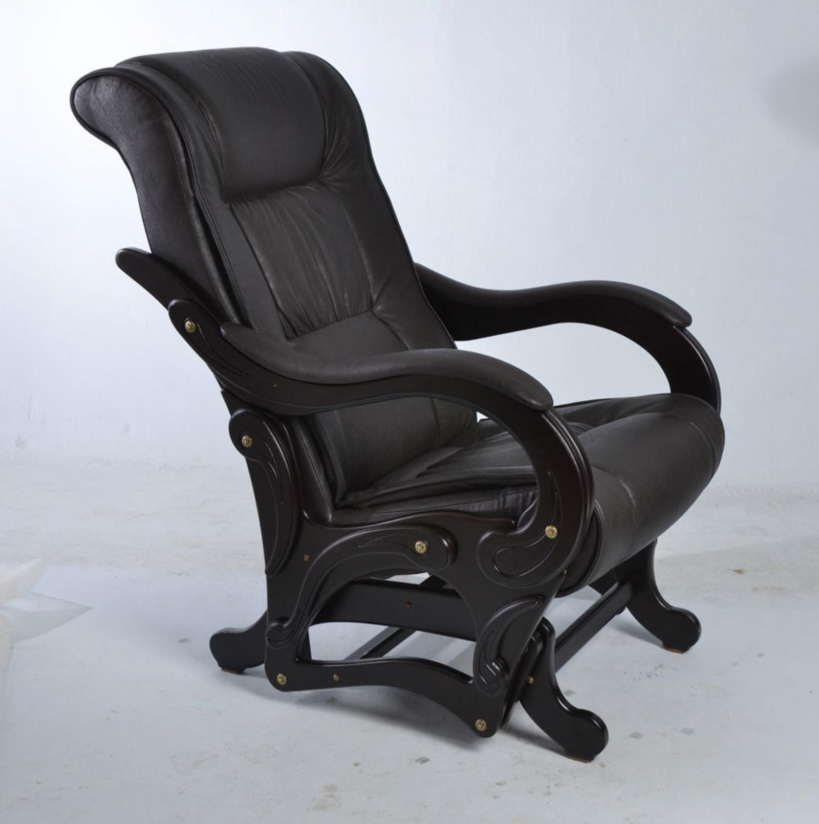 """Кресло качалка-глайдер """"Лидер"""", Модель 78 Венге/Дунди 109 - 1"""