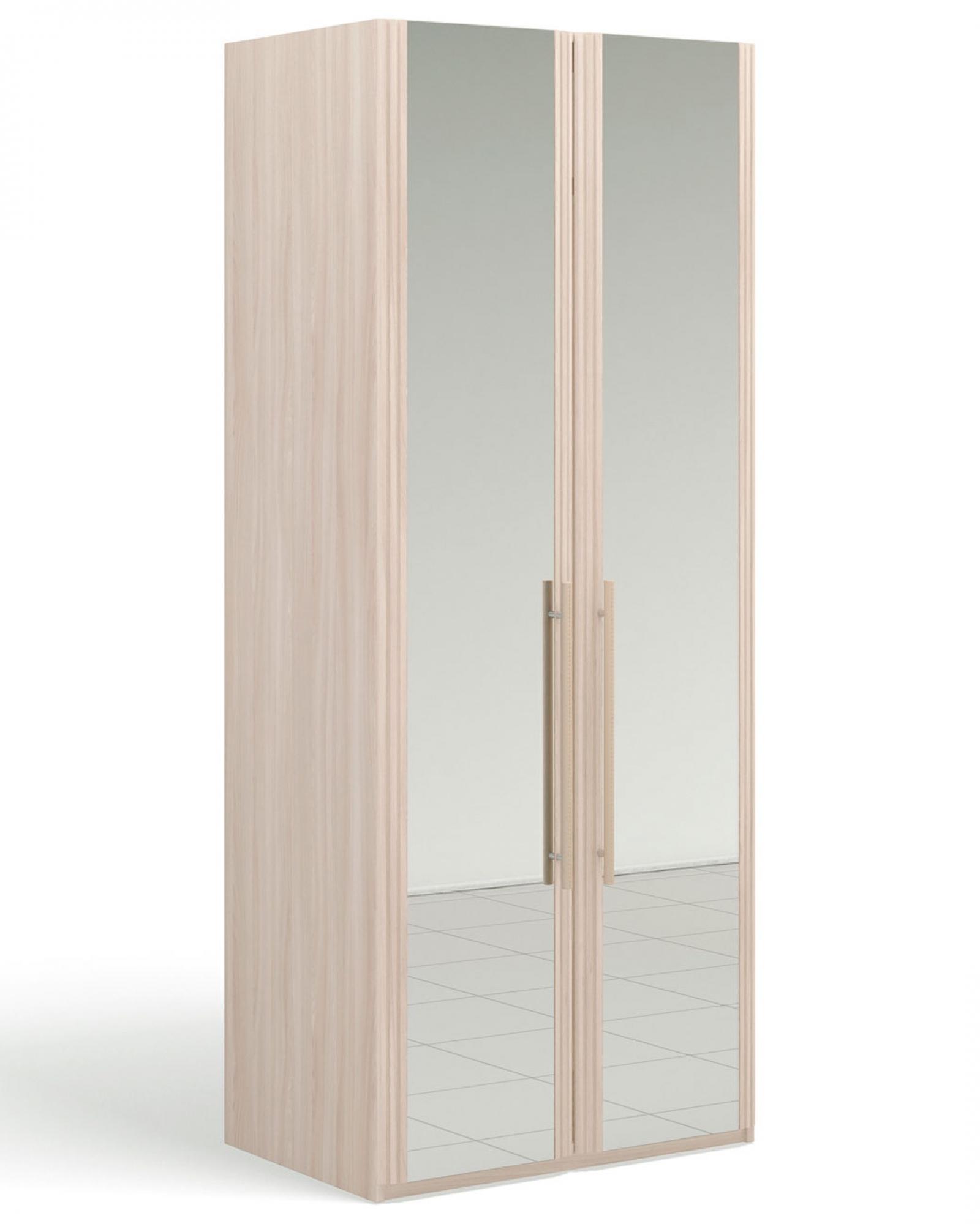 """""""Ассоль Ясень светлый"""" Шкаф для одежды 2-дверный  c 2-мя зеркалами - 1"""