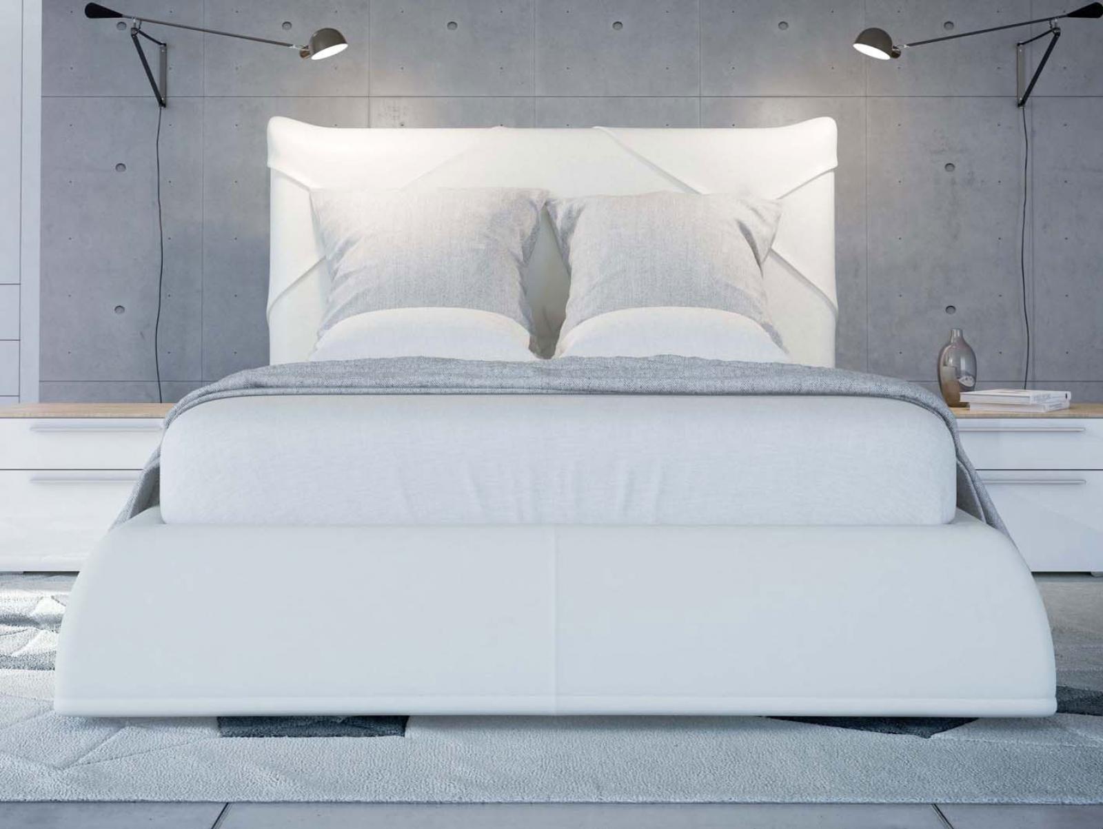 SOLO Белый глянец 800.0816-B Кровать для подъемного основания  1600*2000 - 1