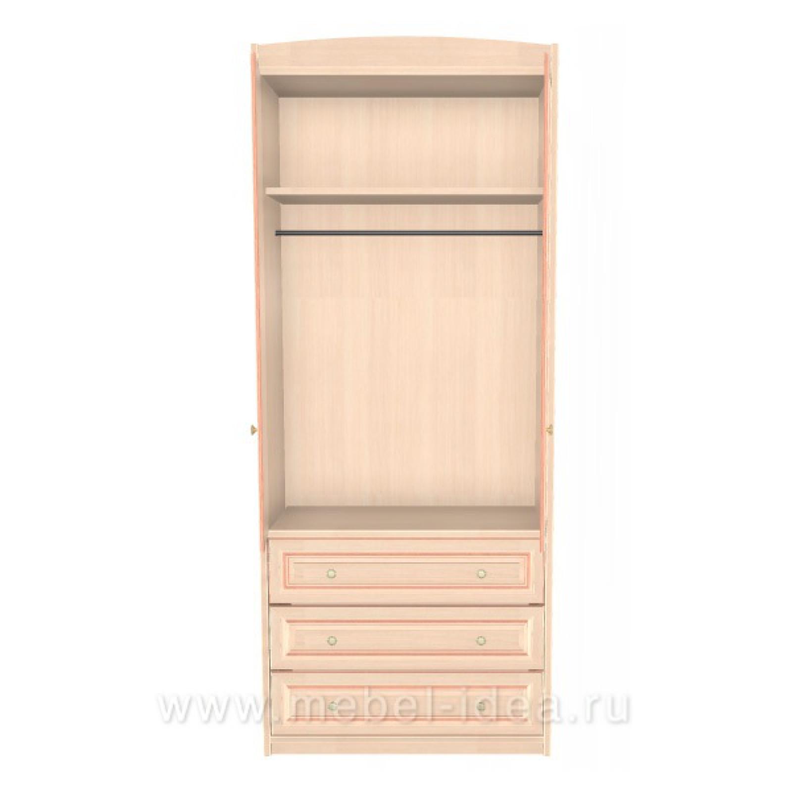 """""""Сюита Rose"""" 371.08М-R Шкаф 2-дверный д/одежды с 3 ящ. - 1"""