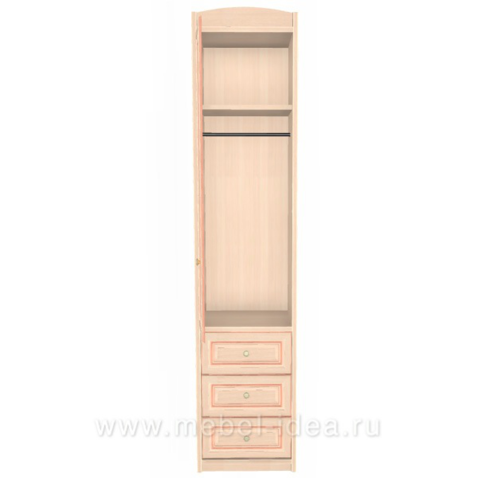 """""""Сюита Naturel"""" 371.10М-NL Колонка д/одежды с 3 ящиками левая - 1"""