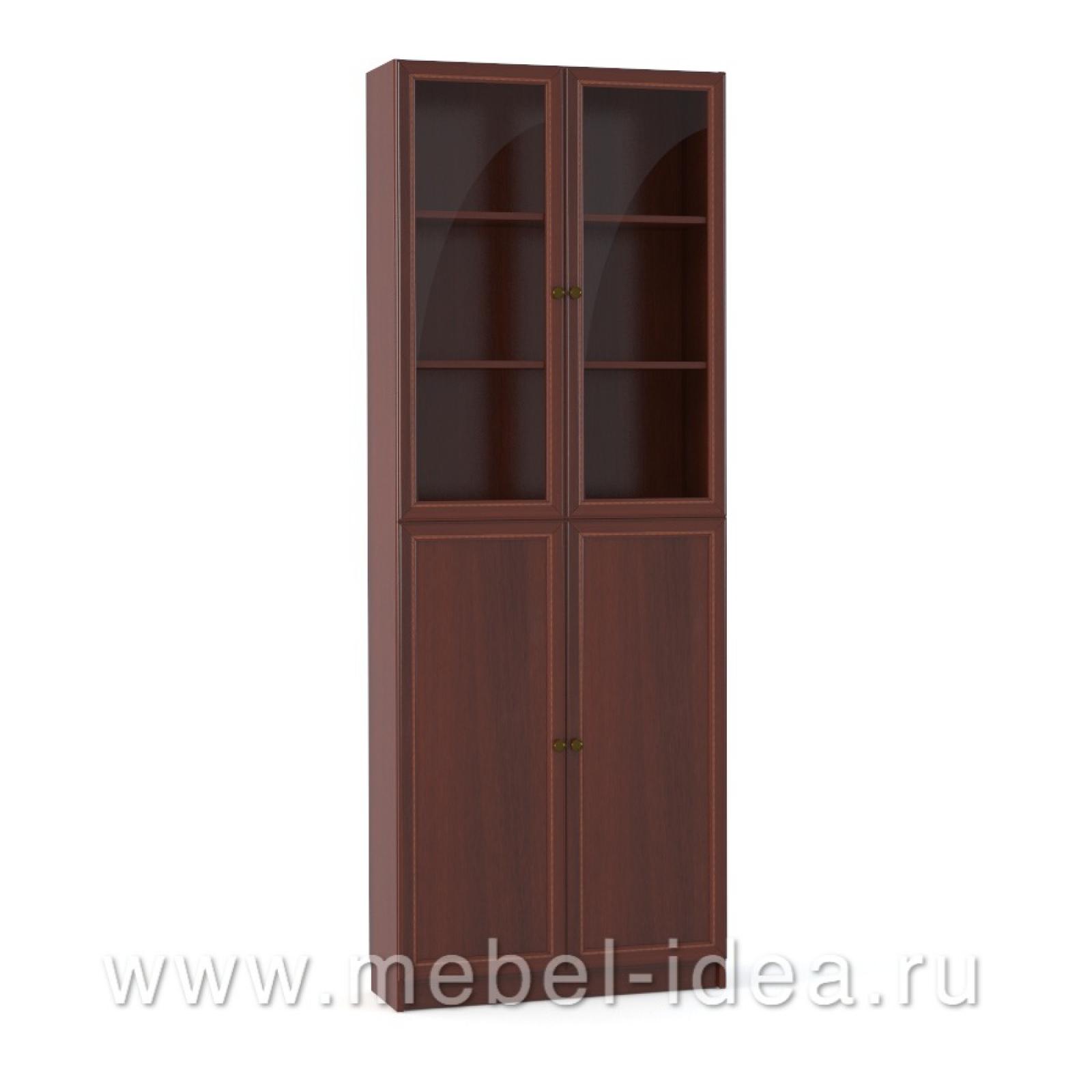 """""""Александрия"""" Шкаф 2-дверный стекл., 2-дверный с раскл. - 1"""