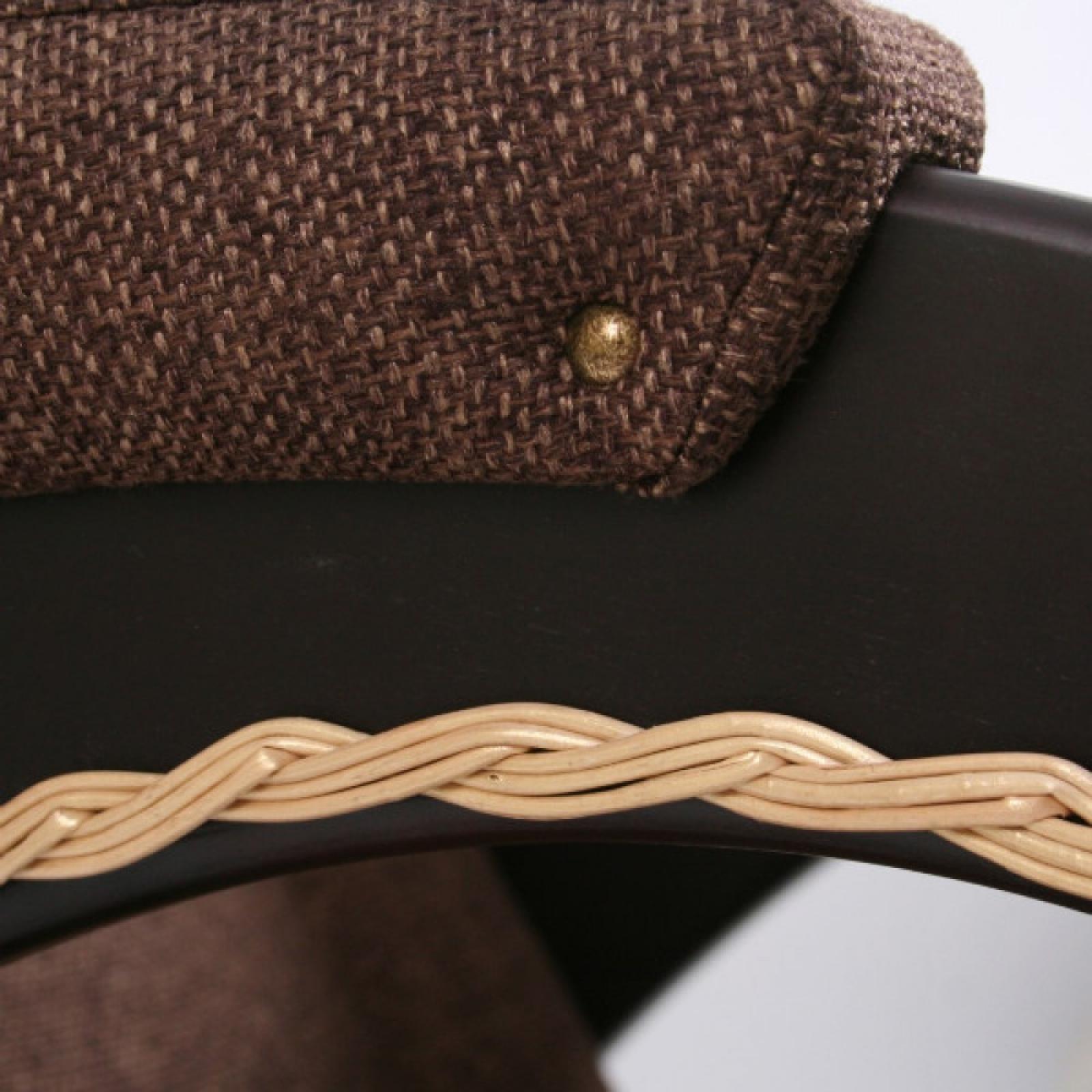 Кресло-качалка, Модель 4 (с декоративной косичкой) Венге/Мальта 17 - 1