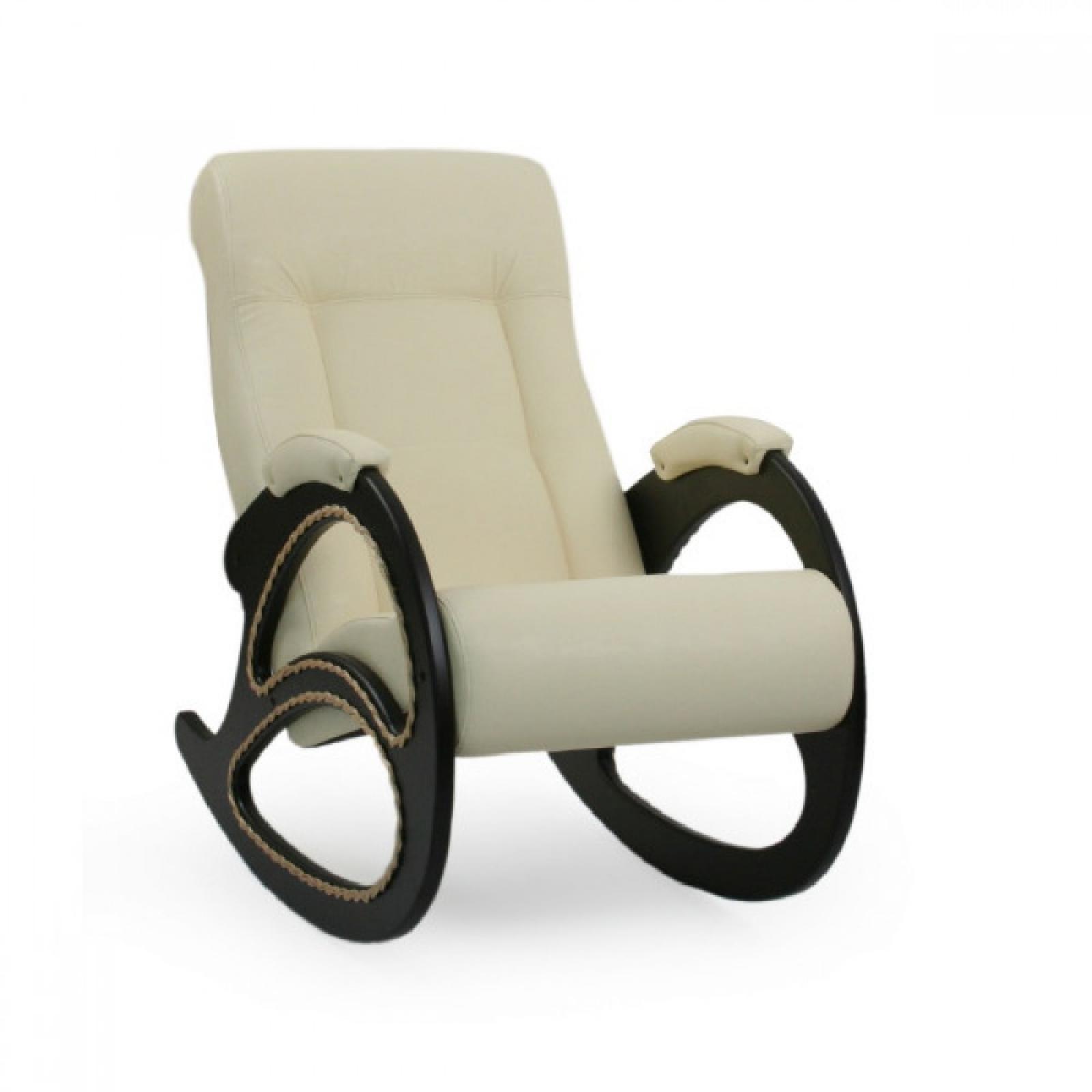 Кресло-качалка, Модель 4 (с декоративной косичкой) Венге/Манго 002 - 1