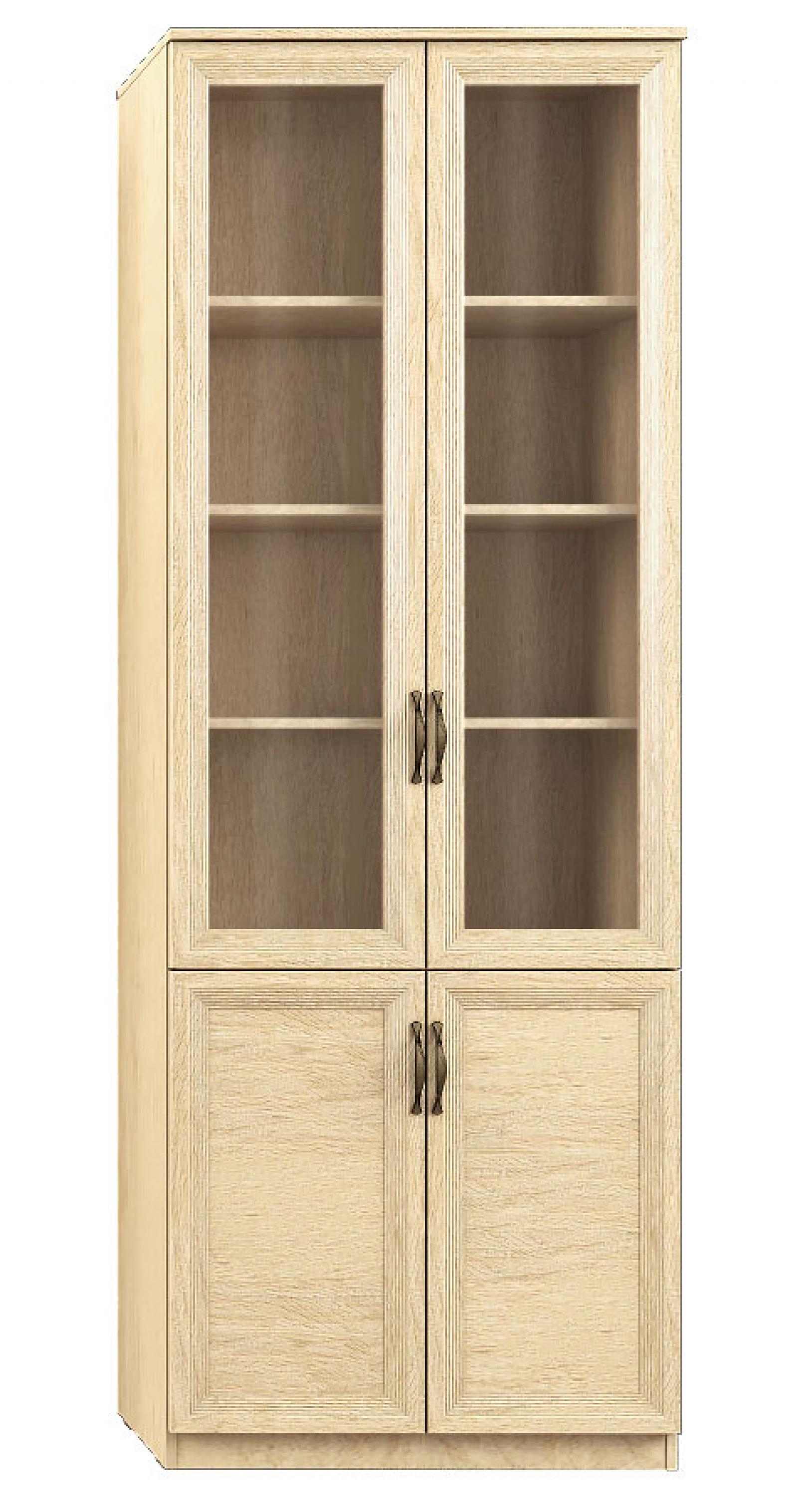 """""""Лира"""" 111 Шкаф 4-х дверный, фасады СТЕКЛ+ДСП - 1"""
