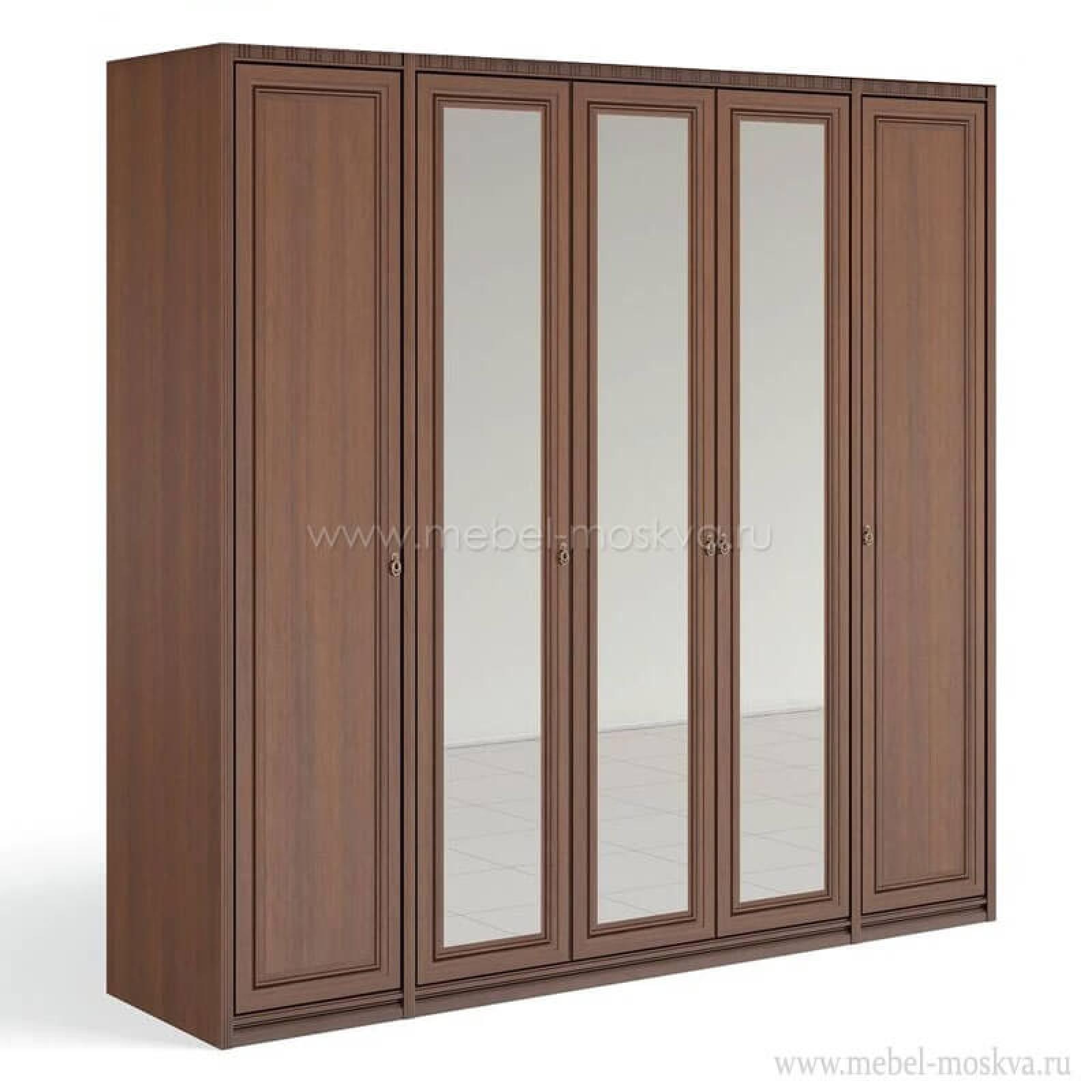 """""""Рапсодия Ю"""" Ю355.15 Шкаф для одежды и белья 5-ти дв. 3 зеркала - 2"""