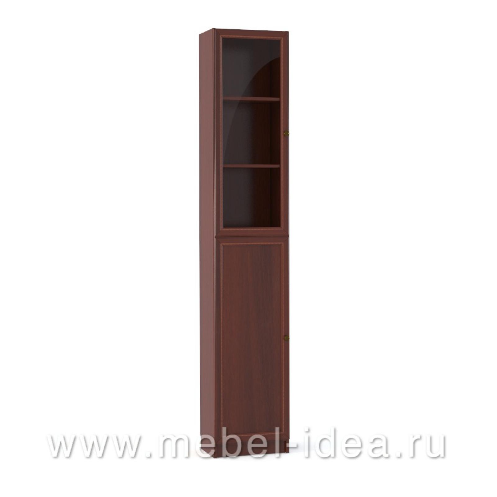 """""""Александрия"""" Шкаф 1-дверный стекл., 1-дверный с раскл. - 1"""