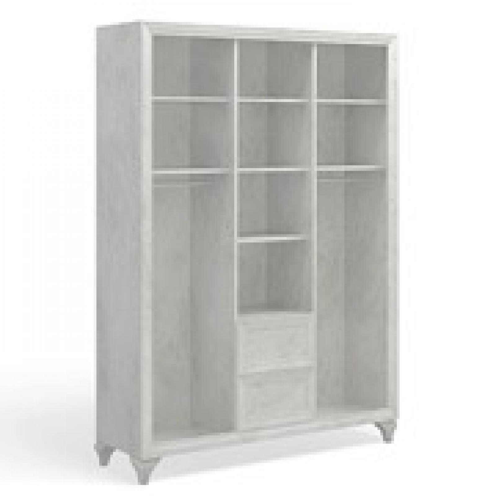 Ария Светлая Шкаф 3-х дверный с ящиками 703.01-B - 1