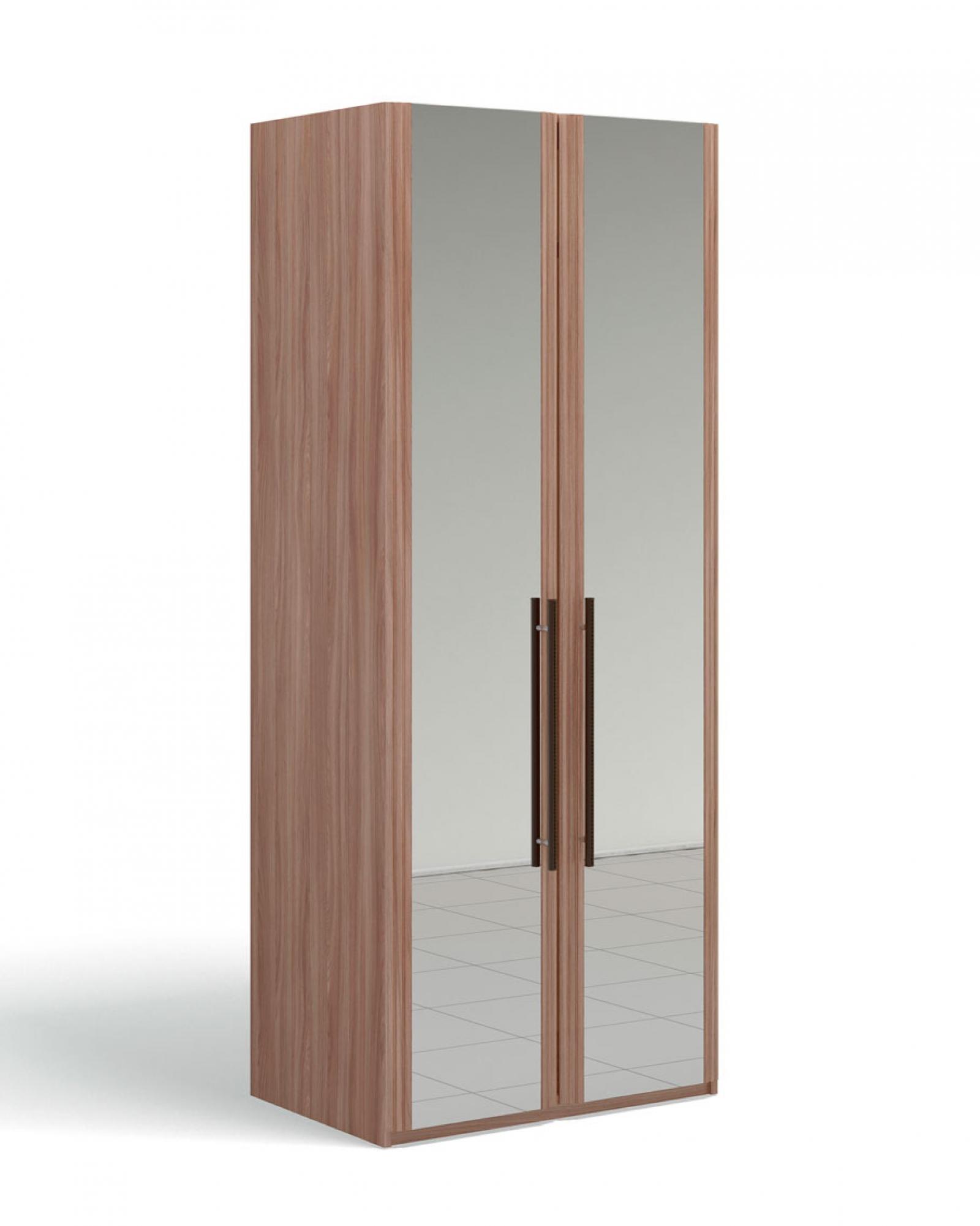 """""""Ассоль Ясень темный"""" Шкаф для одежды 2-дверный  c 2-мя зеркалами - 1"""