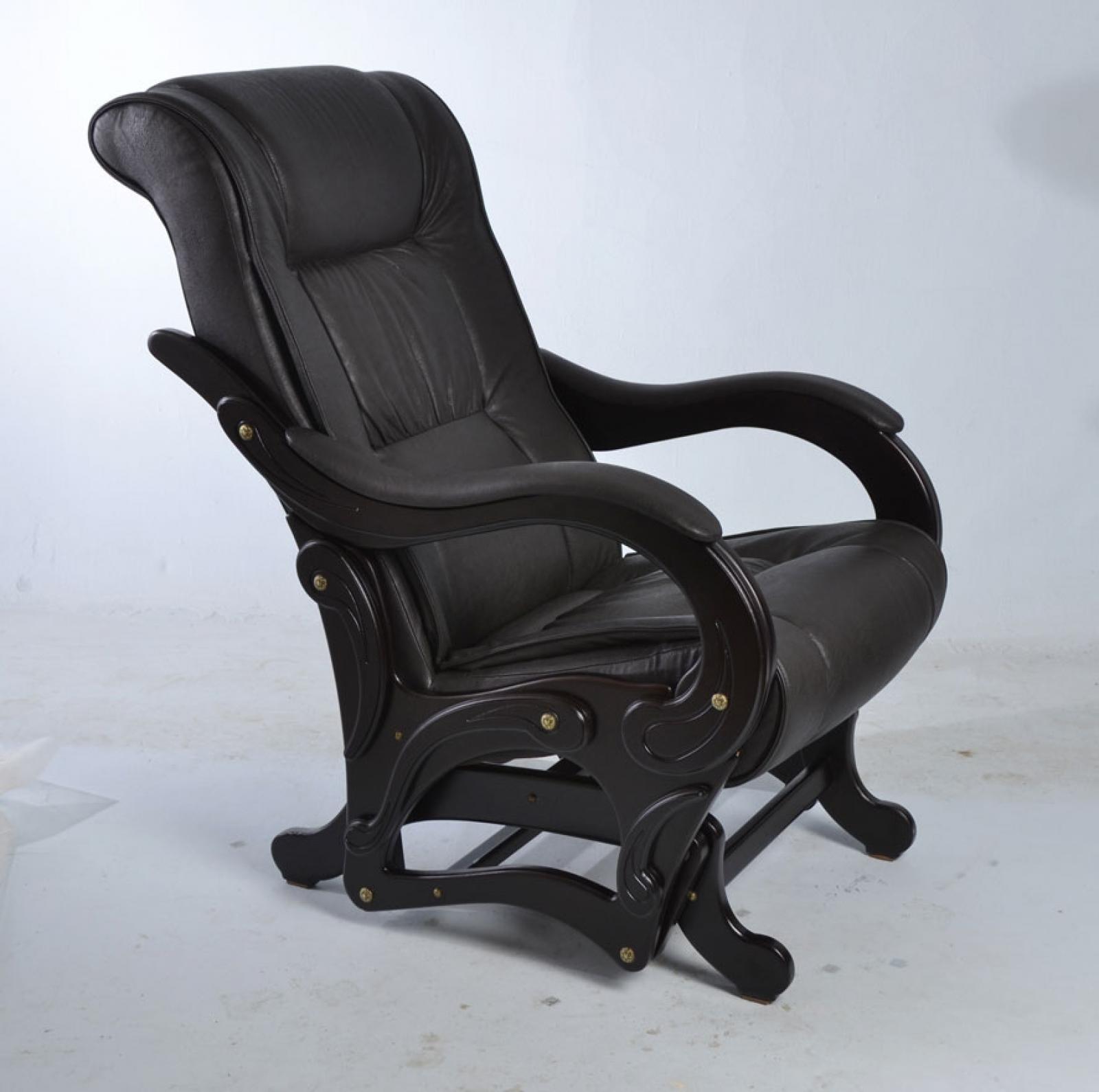 """Кресло качалка-глайдер """"Лидер"""", Модель 78 Венге/Дунди 108 - 1"""