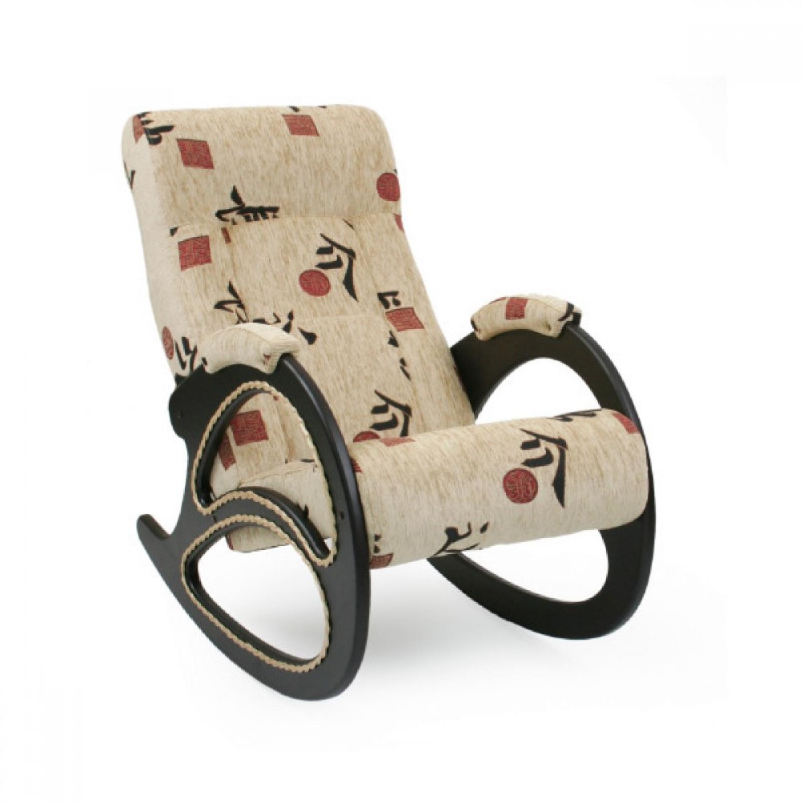 Кресло-качалка, Модель 4 (с декоративной косичкой) Венге/Токио - 1