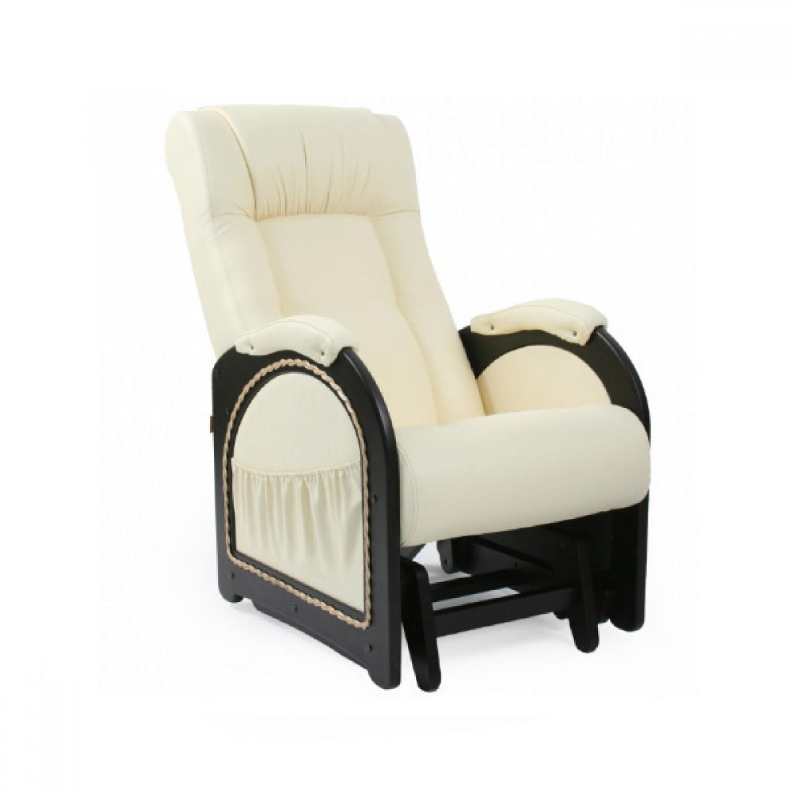 Кресло качалка Глайдер, Модель 48 (с карманами с декоративной косичкой) Венге/Манго 002 - 1