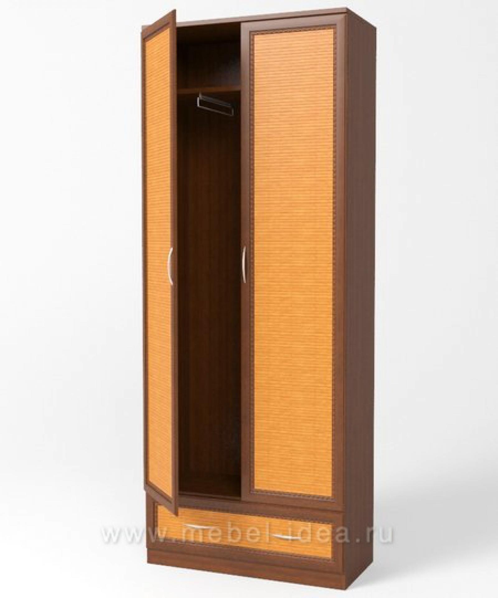 Сакура Орех Шкаф 2 дв с ящиком Ш43 - 1