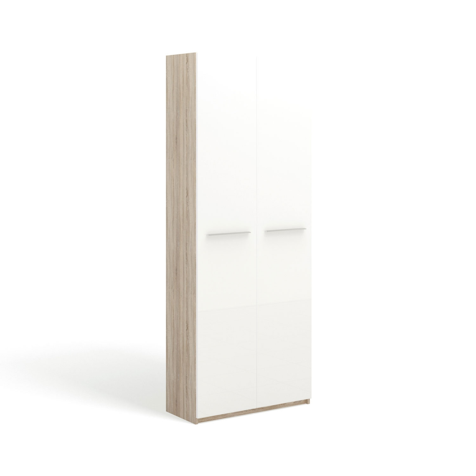"""SOLO Белый глянец 393.71-DB Шкаф 2 дв. / фасад """"глянец"""" - 2"""