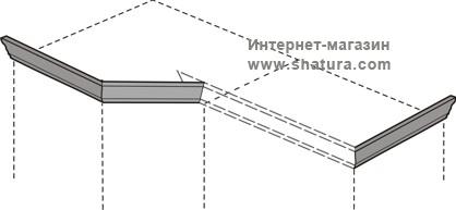 """Марта-М Беж"" Карниз для композиции (угл.+шк.) - 917"