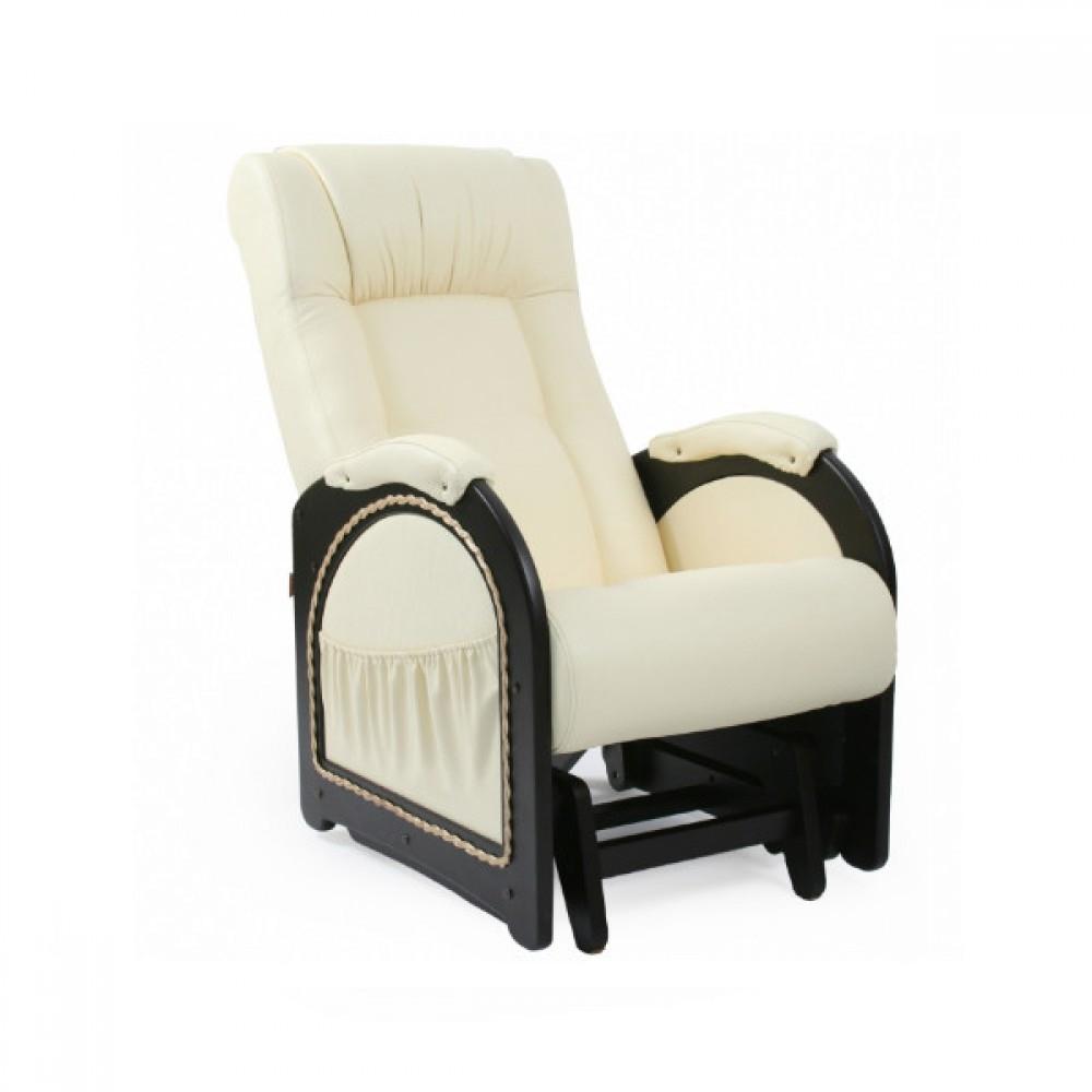 Кресло качалка Глайдер, Модель 48 (с карманами с декоративной косичкой) Венге/Манго 002 - 6104