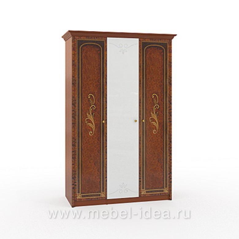 """""""Флоренция-М"""" Шкаф 3-дверный (2+1) с 1зерк. - 602"""