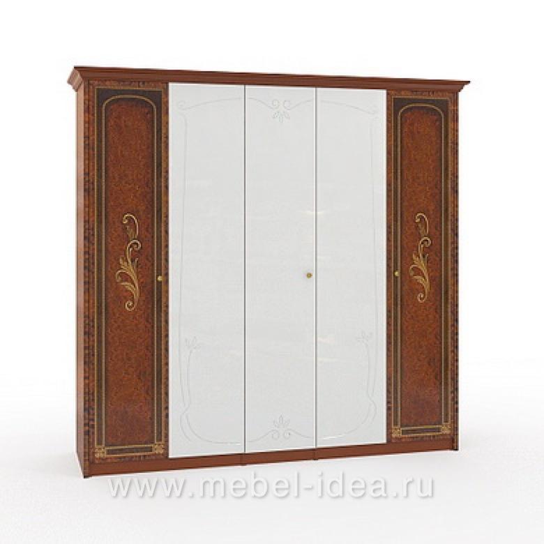 """""""Флоренция-М"""" Шкаф 5-дверный (2+1+2) с 3зерк. - 606"""