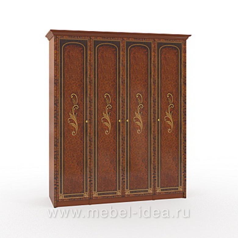 """""""Флоренция-М"""" Шкаф 4-дверный (1+2+1) - 608"""