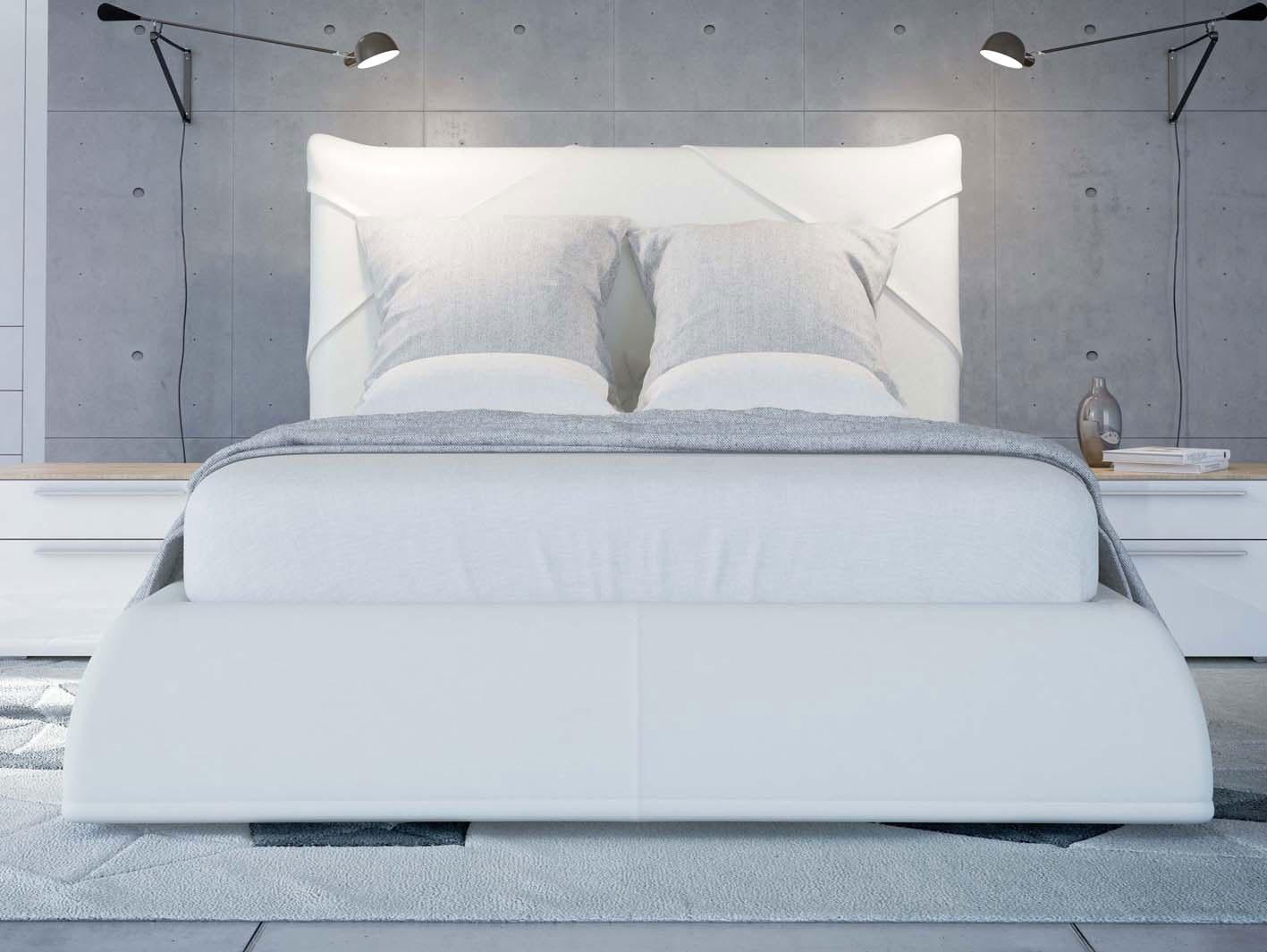 SOLO Белый глянец 800.0816-B Кровать для подъемного основания  1600*2000 - 4674
