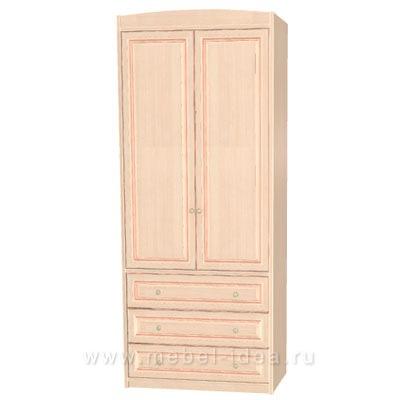 """""""Сюита Rose"""" 371.08М-R Шкаф 2-дверный д/одежды с 3 ящ. - 3000"""