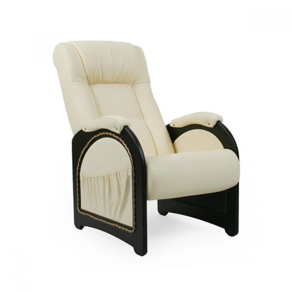 Кресло для отдыха, Модель 43 (с карманами с декоративной косичкой) Венге/Манго 002 - 6103