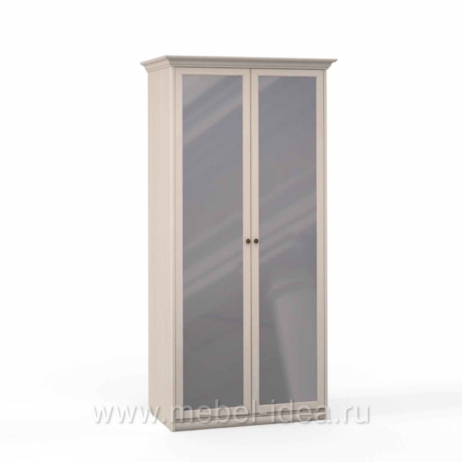 """Лючия светлая"" Шкаф 2 дв. с зерк. - 3537"