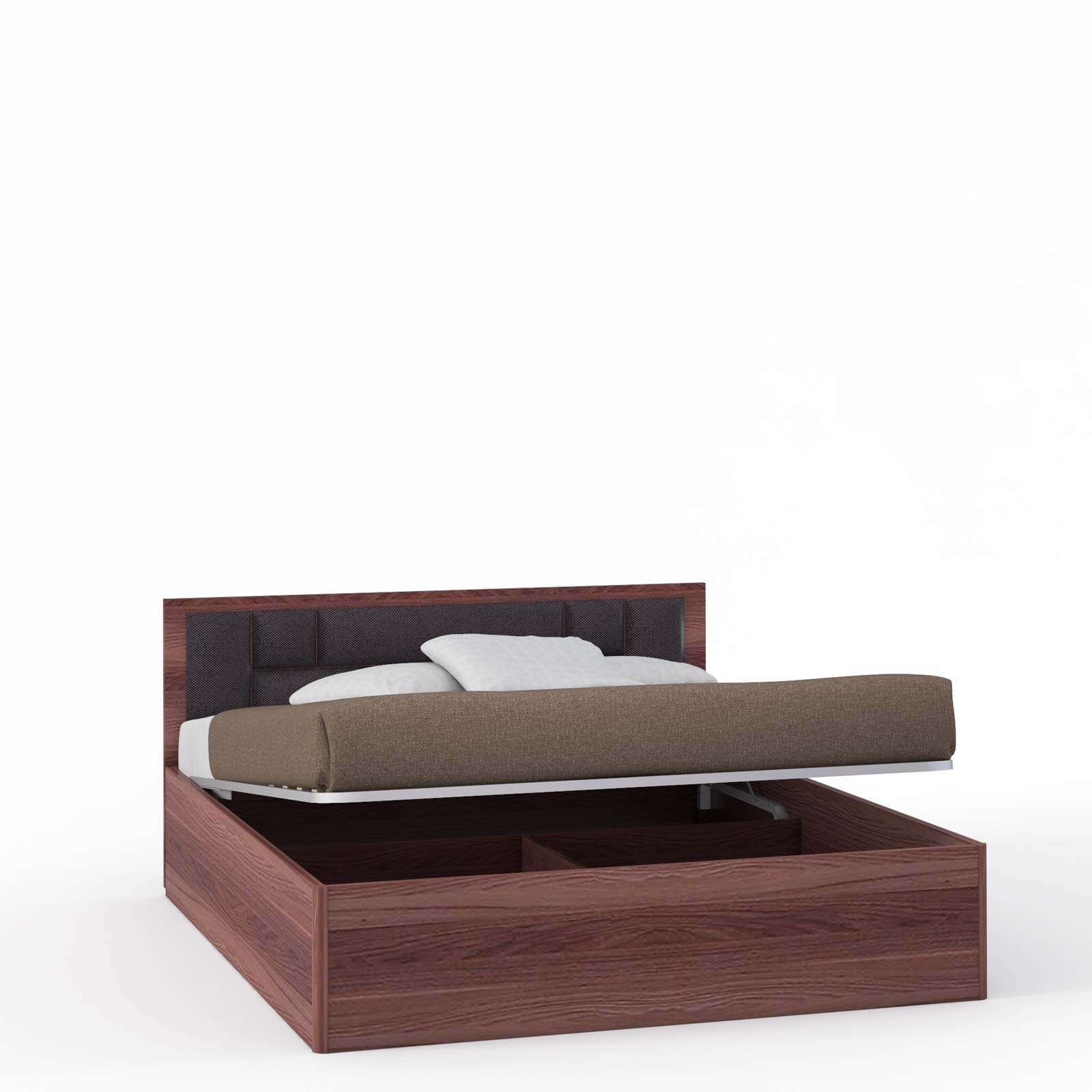 Спальня Rimini Choco Кровать 2 сп. с п/м, мягк.изг.шоко (1800) - 5439