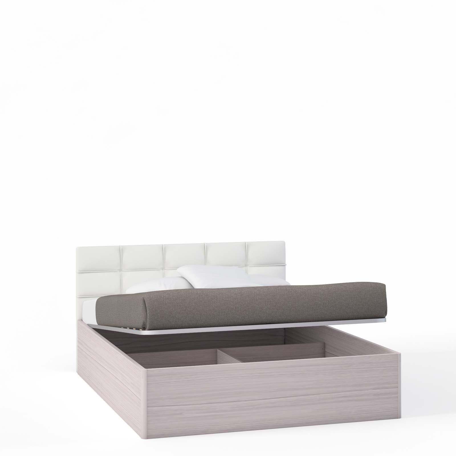 Спальня Rimini Ice Кровать 2 сп. с п/м, мягк.изг.белое (1600) - 5472