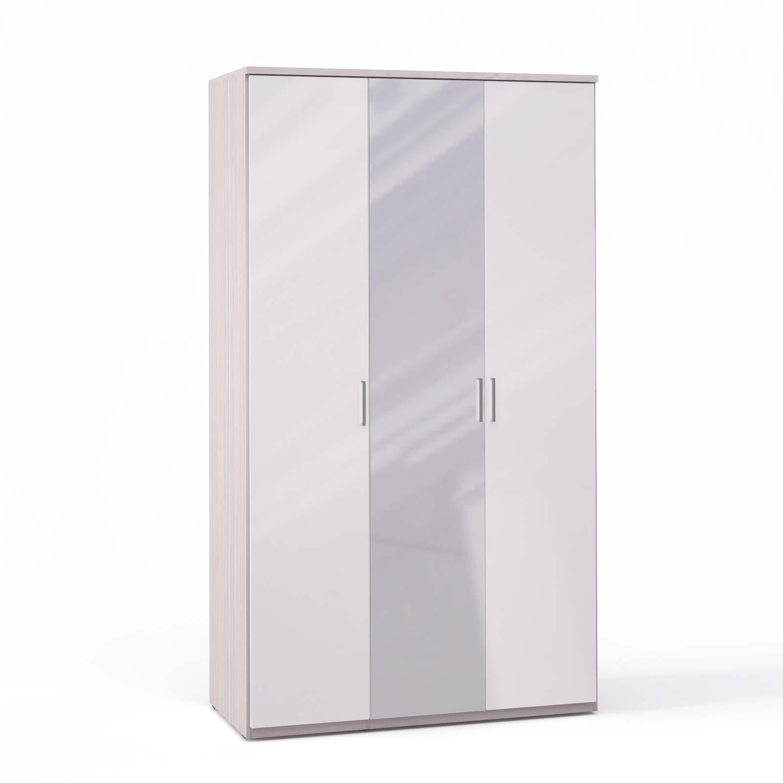 Спальня Rimini Ice Шкаф 3 дв. (1+2) с зерк. - 5490
