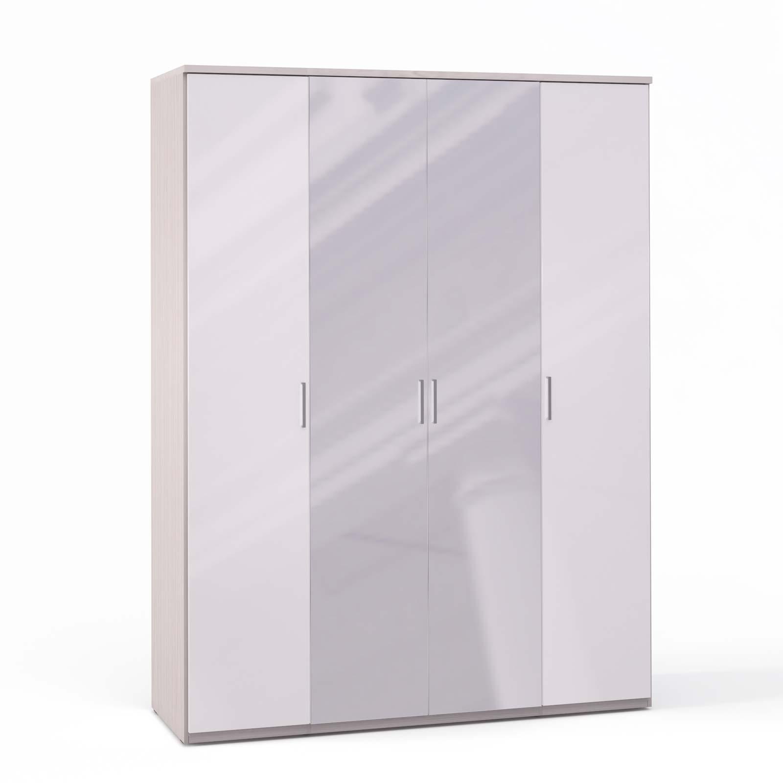 Спальня Rimini Ice Шкаф 4 дв. (1+2+1) с зерк. - 5494