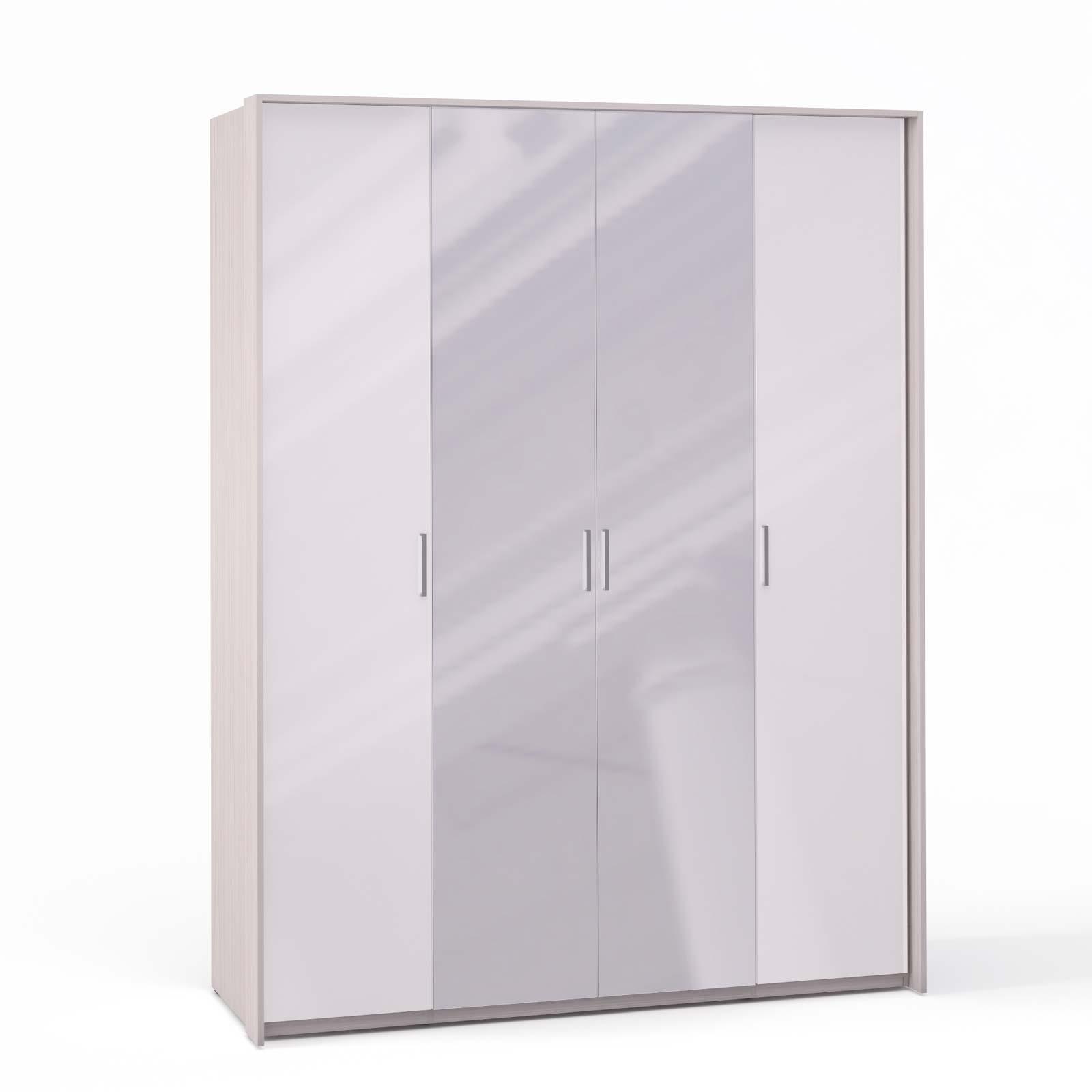Спальня Rimini Ice Шкаф 4 дв. (1+2+1) с зерк. паспарту - 5495