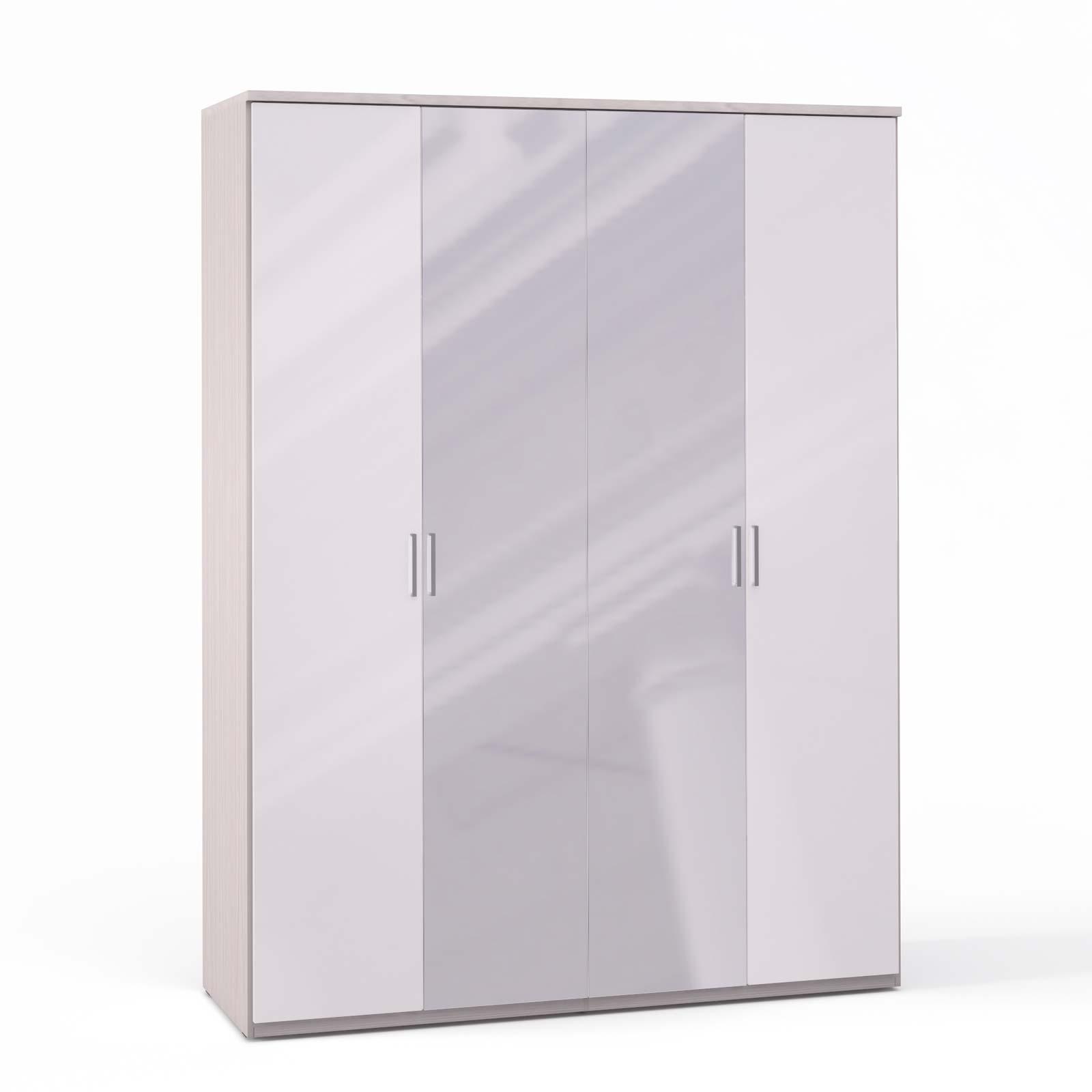 Спальня Rimini Ice Шкаф 4 дв. (2+2) с зерк. - 5498