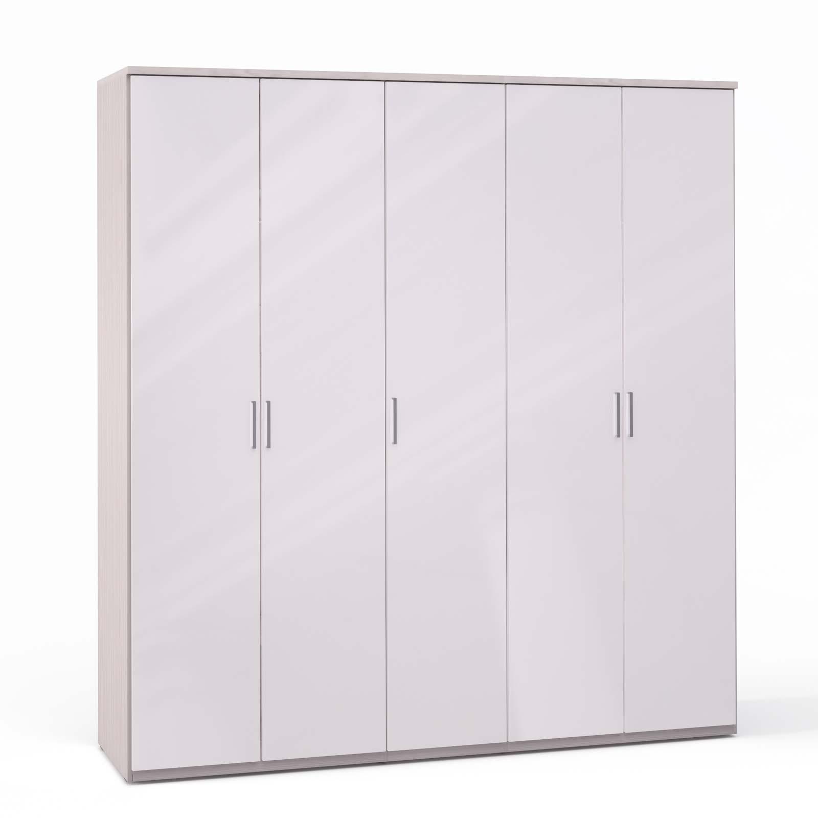 Спальня Rimini Ice Шкаф 5 дв. (2+1+2) - 5500