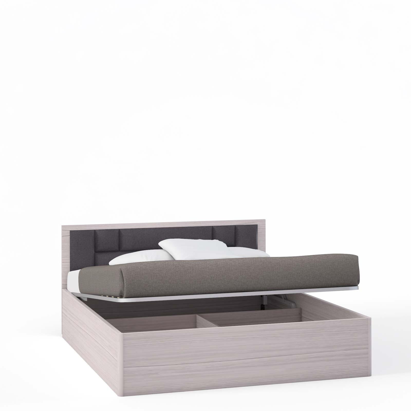 Спальня Rimini Mokko Кровать 2 сп. с п/м, мягк.изг.шоко (1800) - 5509