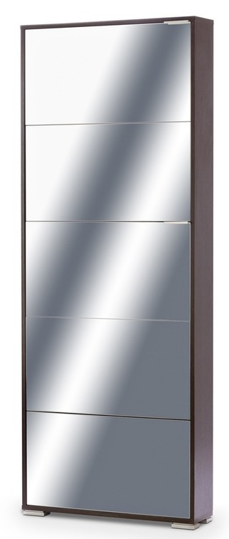 Тумба для обуви VIVA-5S венге/зеркало - 6044