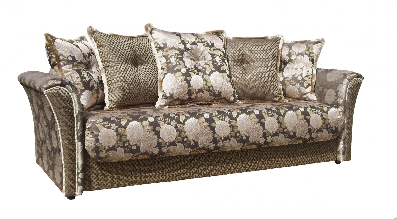 Диван-кровать Мартель Роза ст. (лиора шоколад/арбен) - 6193