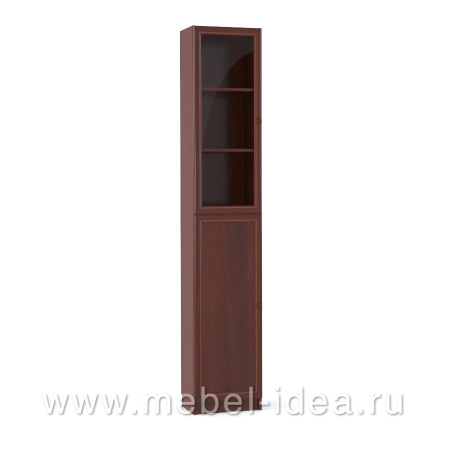 """""""Александрия"""" Шкаф 1-дверный стекл., 1-дверный с раскл. - 2860"""