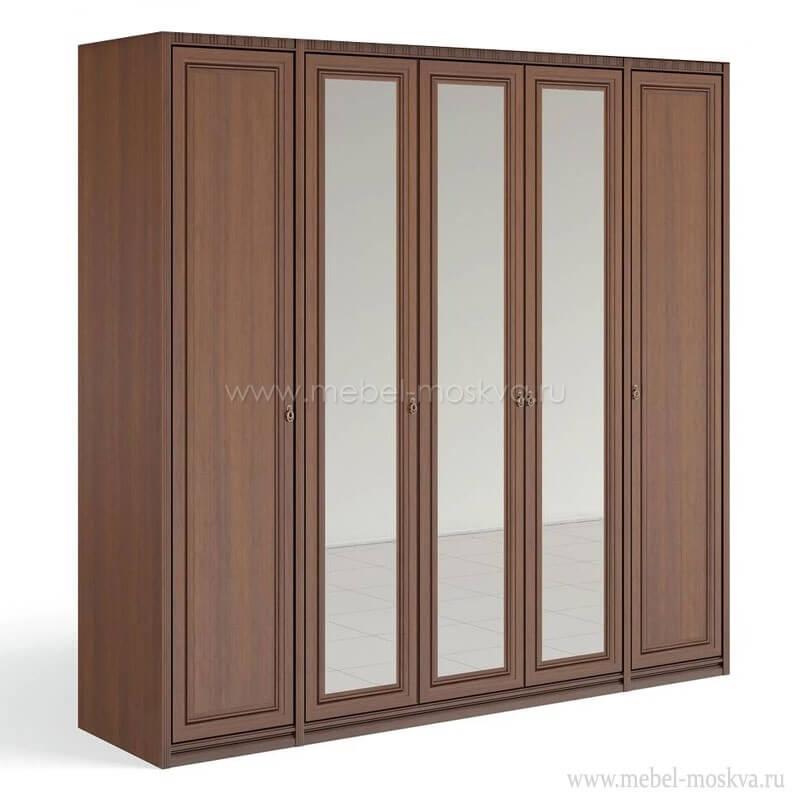 """""""Рапсодия Ю"""" Ю355.15 Шкаф для одежды и белья 5-ти дв. 3 зеркала - 6351"""