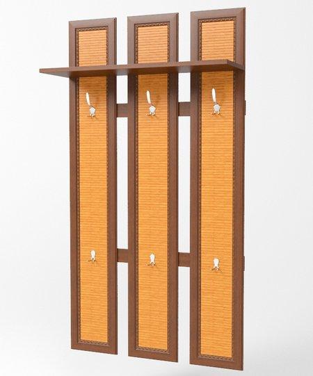 Сакура Орех Вешалка 3х-секционная В03 - 3785