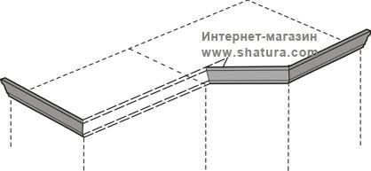 """Марта-М Беж"" Карниз для композиции (шк.+угл.) - 918"