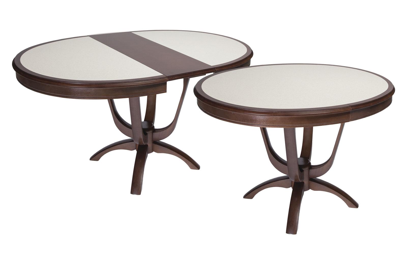 Стол обеденный Камелия О с КАМНЕМ - 5783