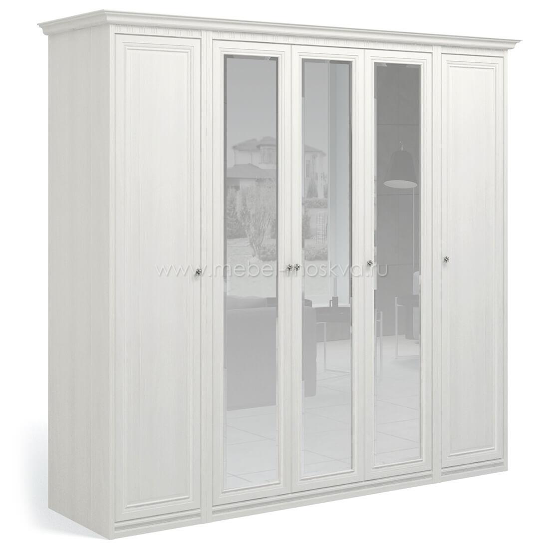 """""""Рапсодия ИДА"""" И355.15 Шкаф для одежды и белья 5-ти дв. 3 зеркала - 6460"""