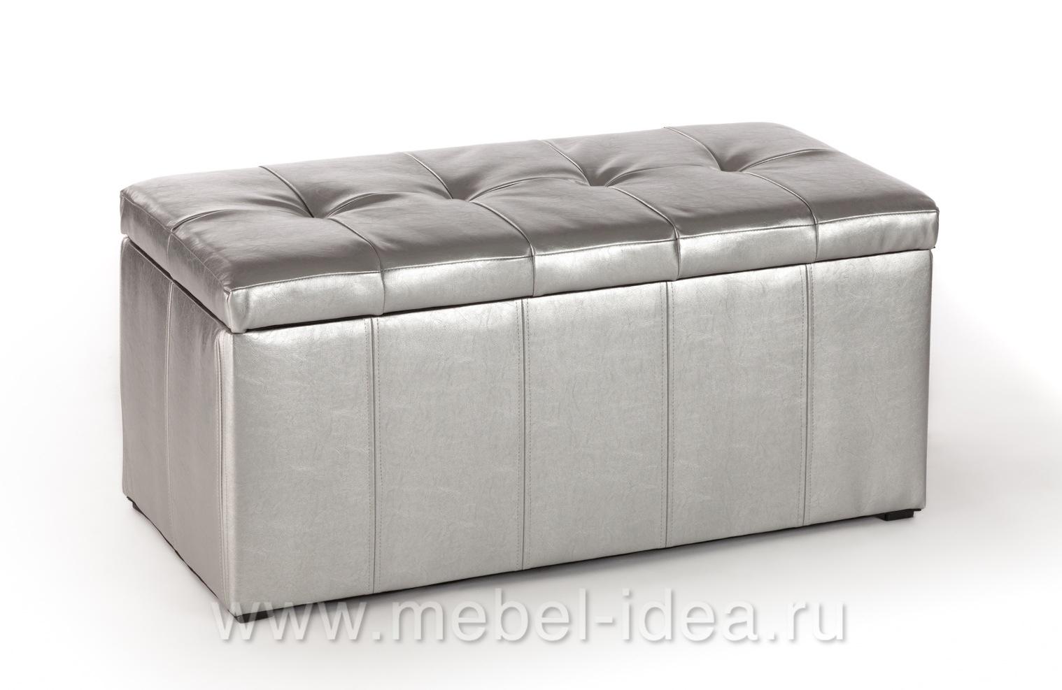 Пуф ПФ-3 серебро - 3759
