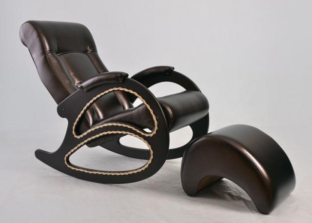Кресло-качалка, Модель 4 (без декоративной косичкой) Венге/Орегон 120 - 6076