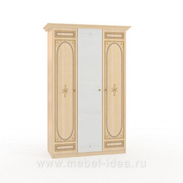 """Марта-М Беж"" Шкаф 3-дверный (1+2) с 1зерк. - 885"