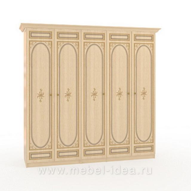 """""""Марта-М Беж"""" Шкаф 5-дверный (2+1+2) - 888"""