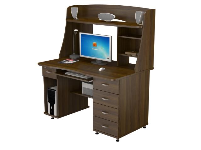 Стол компьютерный КС 20-08 Орех Валенсия  - 3846