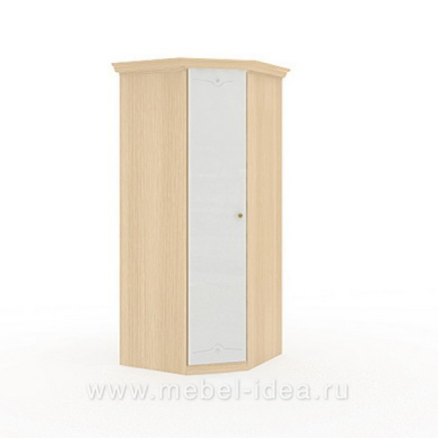 """Марта-М Беж"" Шкаф угловой 1-дверный с зерк. - 895"